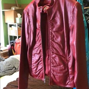 Wilson's Red leather jacket! Size Medium